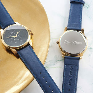 Star Sign Constellation Personalised Watch Gold - lust list