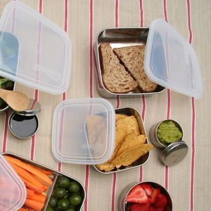 Square Stainless Steel Containers - storage & organising