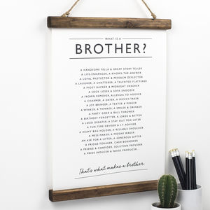 Brother Poem Print - winter sale