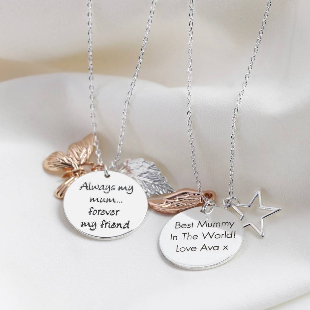 Personalised 'Always My Mum' Meaningful Words Necklace