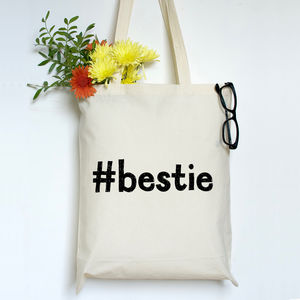 Best Friend Hashtag Tote Bag - whats new