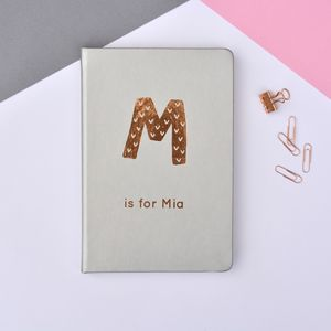 Children's Personalised Initial A5 Lined Notebook - notebooks & journals