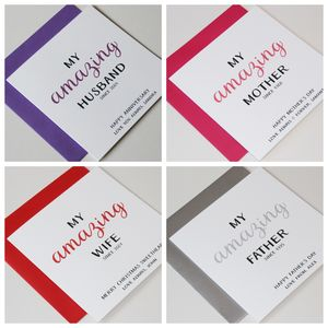 Personalised Occasions 'My Amazing…' Greeting Card - personalised cards