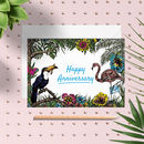 Tropical 'Happy Anniversary' Greeting Card