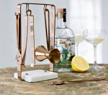 Marble And Copper Cocktail Set