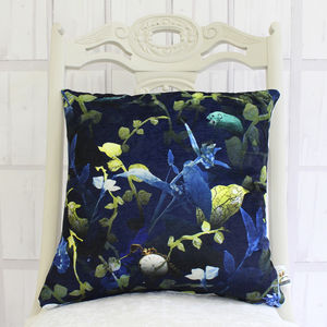 Forest Animals Botanical Cushion - bedroom