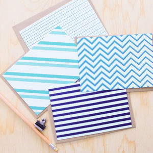 Pack Of Patterned Notecards - shop by category