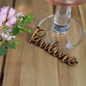 Handwritten Style Wooden Laser Cut Place Card - new in wedding styling