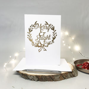Paper Cut Luxury Gold Christmas Card
