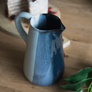 Black And Grey Stoneware Serving Jug