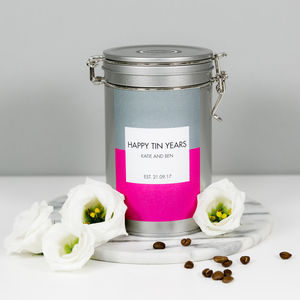 'Happy Tin Years' Anniversary Gift Tin