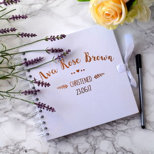 Personalised Christening Guest Book - whats new