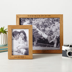 Personalised Photo Frame - gifts for fathers