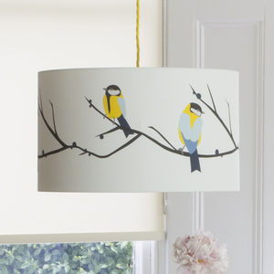 Great Blue Tit Lampshade - bedroom