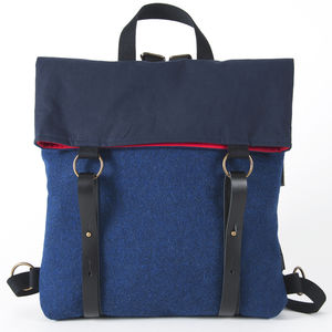 Hepburn Backpack Blue - men's accessories