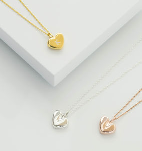 Personalised Small Heart Necklace - necklaces & pendants