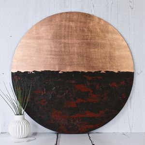 Circular Abstract Copper Reflections - paintings