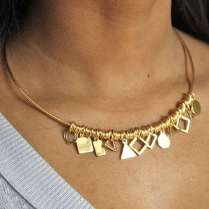 Multi Shape Charm Choker Necklace