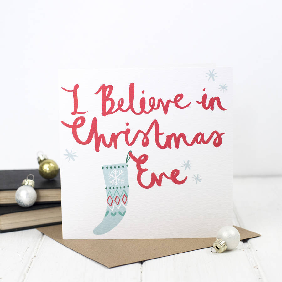 Christmas eve brush script christmas card by bespoke verse christmas eve brush script christmas card m4hsunfo