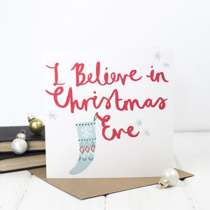 Christmas Eve Brush Script Christmas Card