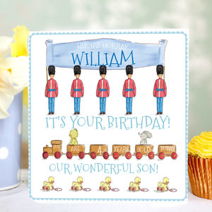 Personalised Boy's Birthday Card 'Toy Soldier' - winter sale