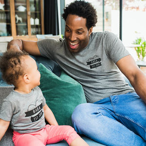 Dada, Baba Est. T Shirt Set - gifts for new parents
