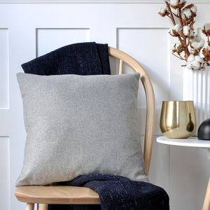Grey British Wool Cushion - keeping cosy