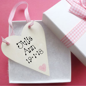 New Baby Personalised Love Token - home accessories