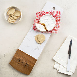 Couples Marble And Wood Serving Platter - kitchen