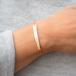 Silana Personalised Bar Bracelet