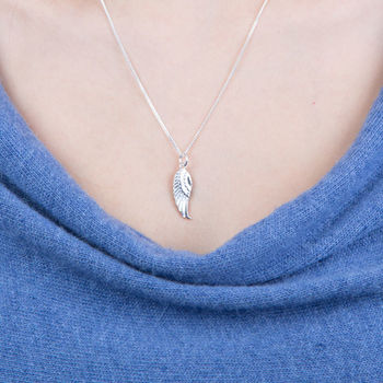 Silver Small Angel Wings Necklace