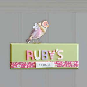 Girl's Bedroom Door Sign
