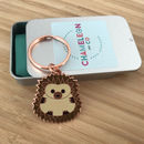 Hedgehog Keyring Gift For Hedgehog Lover