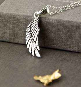 Sterling Silver Angel Wing Necklace - necklaces & pendants