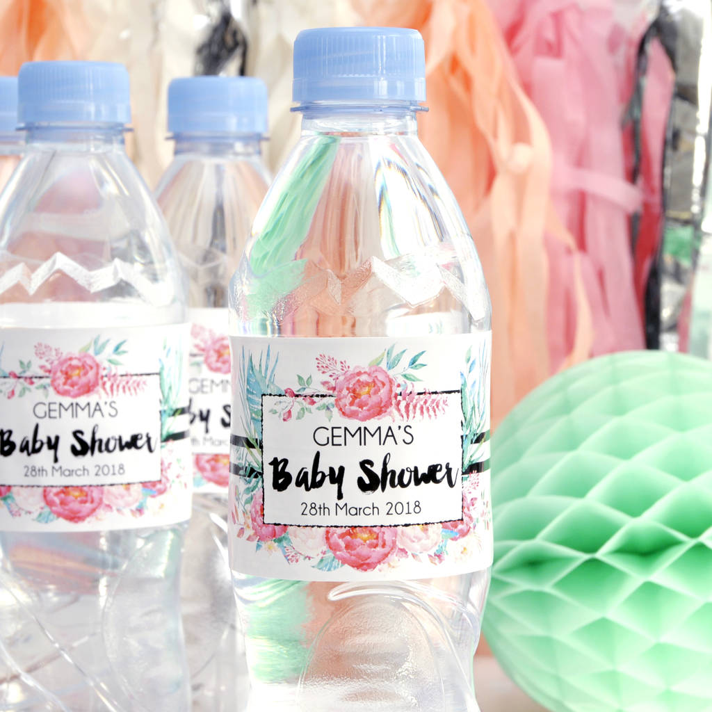 Personalised Baby Shower Bottle Labels