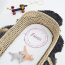 Personalised 'Name Wreath' Pram/Cot Sheet