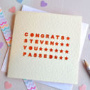 Personalised Laser Cut Congrats You Passed Card