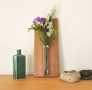Oak Vase displayed on shelf