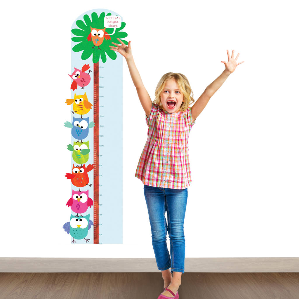 Personalised Owls Height Chart