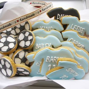 Personalised Football Team Biscuit Tin - biscuits and cookies