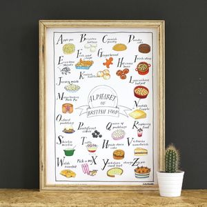 Alphabet Of British Foods A3 Print