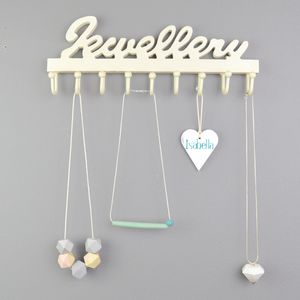 Personalised Wooden Jewellery Hook