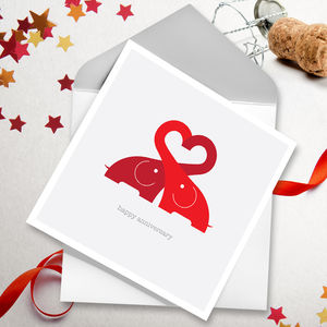 Elovephant Greetings Card - original valentine's cards