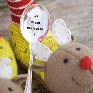 Baby's First Christmas Personalised Silver Spoon