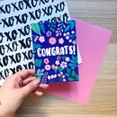 Colourful Floral Congrats Card