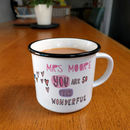 Personalised Wonderful Teacher Mug