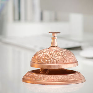 Copper Service Bell - ornaments