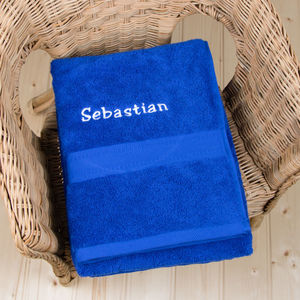 Personalised Swimming Towel - bathroom