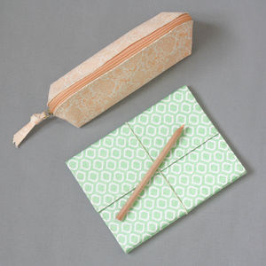 Pastel Pencil Case And Notebook Set