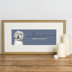 Bespoke Illustrated Portrait Of Your Dog - pet portraits